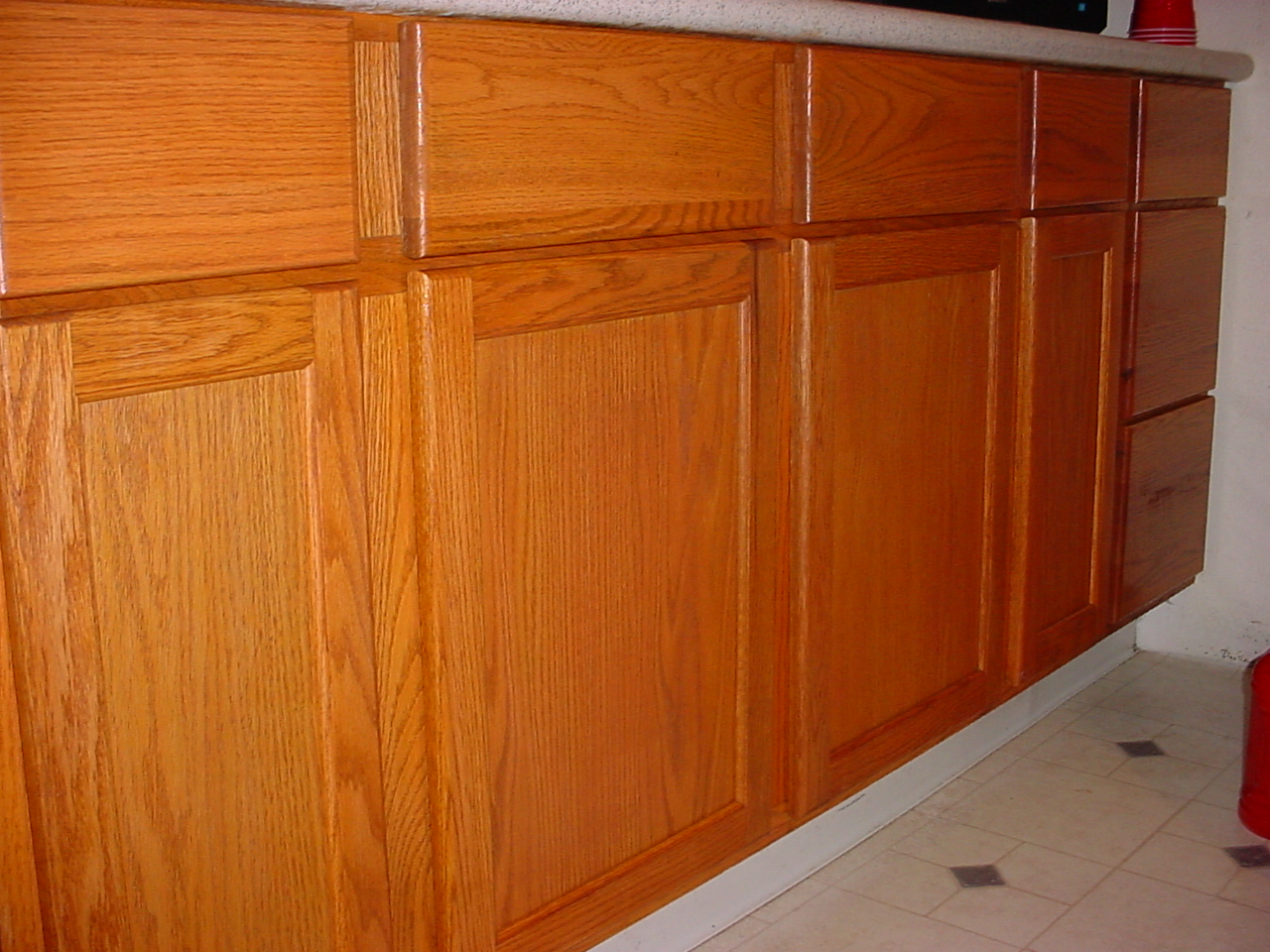 Kitchen cabinets re staining service no need to waste Newwood cupboards